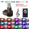 OEM installation Wireless mobile control 10W RGBW Angel eye for BMW E60 E61 E90 E91 E92 E87 Angel Eye