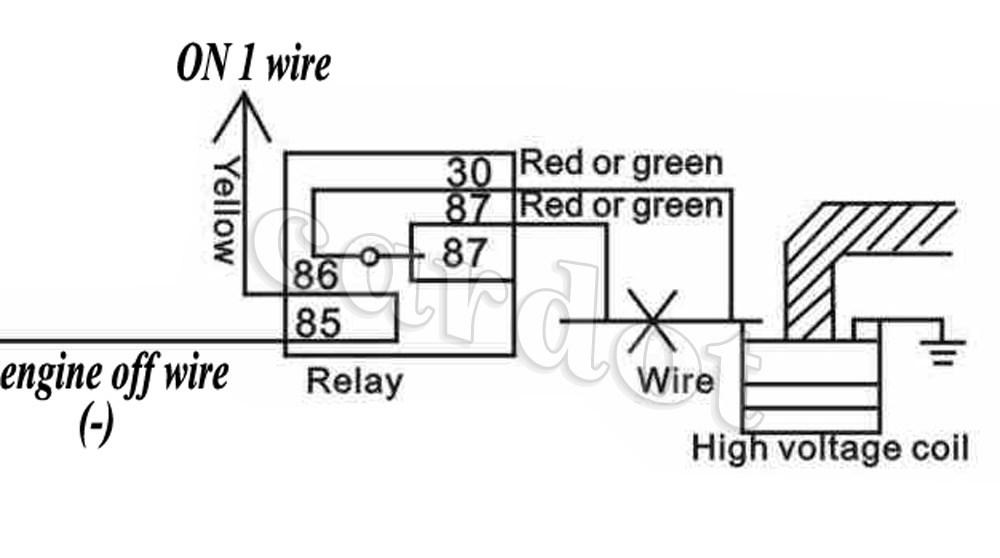 Remote Start Security CAR Alarm Motion AND Shock Sensor