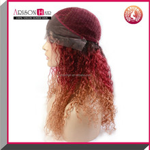 3 tone ombre full lace wig side parting human Brazilian virgin hair wig swiss lace remy bright color party wigs