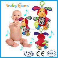 Baby musical hanging toys dog plush animal baby toy educational toy kids