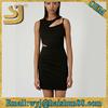 Plain slim fit casual american dresses,slim women summer dress
