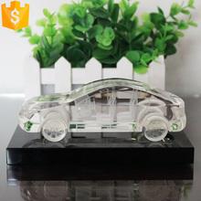 2015 new design handmade crystal glass 3d car model