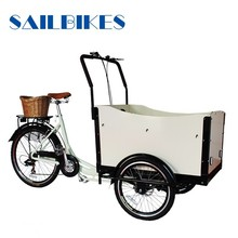 3 wheel cargo tricycle used for family
