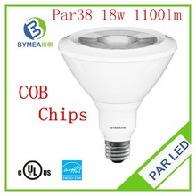 18w 1100lm COB dimmable par38 led with FCC UL cUL Energy Star(ES)