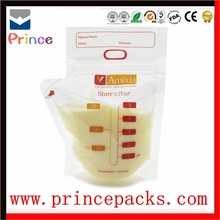 custom printing food grade bag /breast milk storage bag