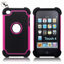 Wholesale Mobile Phone Case For iTouch 4 Case for iPod Touch 4 with 3 In 1 Filp Cover