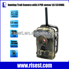 2014 Hot Sale 3 PIR Sensor 0.6s Trigger Time Motion Detection Wireless HD MMS Send Via GPRS 2G Hunting Camera Ltl Acorn 5310MG