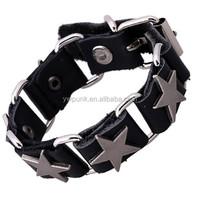 Cowhide bracelet ornament Japan and South Korea popular tide tide male female leather bracelet Yiwu bangles punk braceles