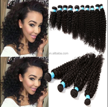 "Top Quality Human Hair 3pcs 14""20"" Natural Black Curly 100g Peruvian Virgin"