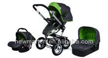 3 in 1 Reversible Baby Stroller, Travel System Baby Pram With Air wheels