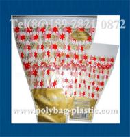 single rose flower sleeve floral plastic sleeves