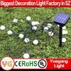 2015 hot production led solar christmas ball light wedding decoration solar led ball light outdoor