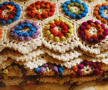 home decoration hand made crochet blanket
