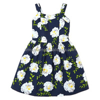 big flower printed dresses for girls