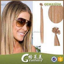fashion Blond Color Virgin Brazilian Hair Fusion nail Tip Hair Extension/Kertain Har Extension