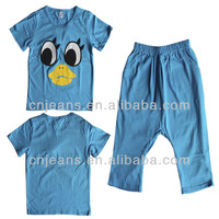 Cheap Wholesale Kids Clothing Stock Set Of chlidren top and pants