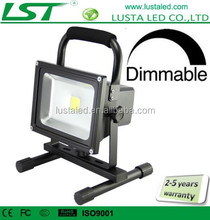 Cordless Rechargeable Work Light 10W 20W 30W 50W Battery Powered LED Floodlight IP65 Dimmable 12V LED Flood Light Portable