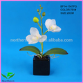 venta al por mayor mini maceta de orquídeas artificiales flores para la decoración