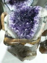 Natural grande cristal cluster uva para presentes de negócios