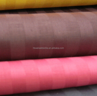 100% cotton dyed stripe hotel bedding textile fabric for bedding , hotel textile