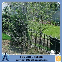 Industrial Safety Fence Galvanized Steel Picket Fence Pvc Coated Ornamental Wrought Iron Fence