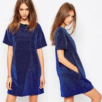 Juhai 3520 bodycon midi blue birthday party dress evening party dress