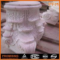 polished surface hand carved docorative wedding flower pillar