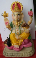 Guo hao hot sale custom vivid polyresin hindu figures , 3d 12cm hindu god idols