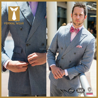 European New Style Double Breasted Brand Name Mens Suits