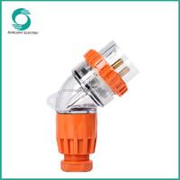Australia plug,three phase 3 round pin angle plug,plug socket(56PA320)