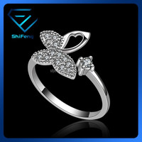 Brass Wrench Ring with Thin White CZ stones