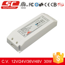 30W output 2.5a 12V constant voltage triac dimmable led driver with TUV CE ROHS cetificate