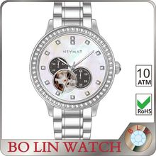 3 hole fashion thin case &bands stainless skeleton watch,sport man skeleton watch ,high quality low cost skeleton watch