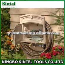 Hose Reel Hanger Holder Storage Compartment Space Saving Wall Mount Garden Tools