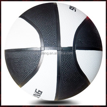 white and black rubber size 6 basketball used for women