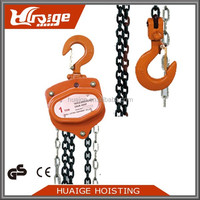 high quality Hook type Toyo Manual chain hoist 2 ton chain pulley block
