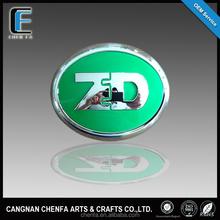 Custom car accessories outdoor 3D round adhesive car logo