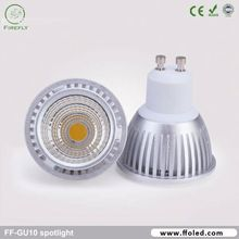 Dimmable gu10 base 120 degree COB chip led gu10 ceiling for commercial lighting