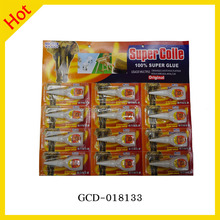 Factory Price 3g 502 Bottle Package Super Glue 12pcs Blister Pack One Card