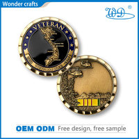 Free design sample offererd 2D engraving zinc alloy material misty gold plating wave edged customized souvenir old coin price