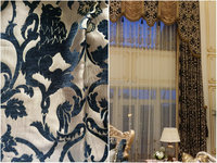jacquard chenille lion pattern heavy curtain fabric