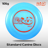 YiKun 105g Space Dog Standard Dog Frisbee-White for Competition