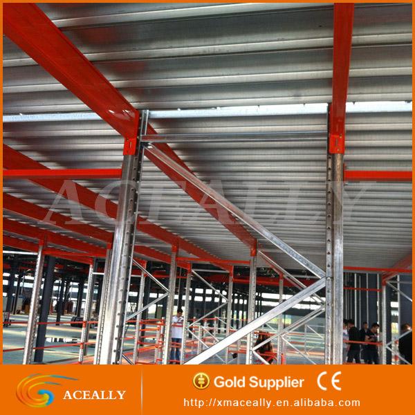 Steel Structure Mezzanine /light Duty Warehouse Muti Floor