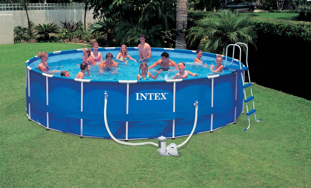 China above ground pvc swimming pool with metal frame for Bestway piscine service com