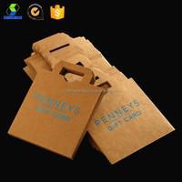 Die cut paper bag kraft paper bags with die cut handle