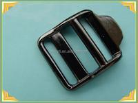 black adjustable metal ladder lock buckle for webbing