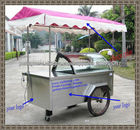 Mergulhando pia móvel carrinho de sorvete/gelato freezer carrinhos