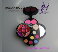 2015 New Item Flower Shap Colorful Palette Makeup Kit For Woman
