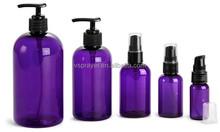 8 oz Plastic Lotion / Soap Dispenser Bottle with Black Pump
