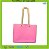 2014 Wholesale rubber silicone beach bag with rope handle